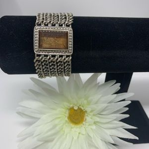 Jewelry - 💛 Beautiful Magnetic Silver and Brown Bracelet